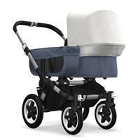 bugaboo donkey2 mono 2019 from birth stroller alu chassis/blue melange/fresh white