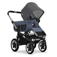 Kinderwagen ab 6 Monate bis 17kg | bugaboo donkey2 mono 2019 Kombikinderwagen Alu/Blau meliert/Grau