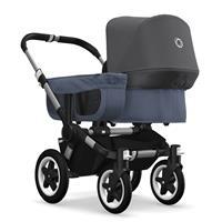 bugaboo donkey2 mono 2019 from birth stroller alu chassis/blue melange/grey melange