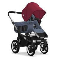 Kinderwagen ab 6 Monate bis 17kg | bugaboo donkey2 mono 2019 Kombikinderwagen Alu/Blau meliert/Rubin