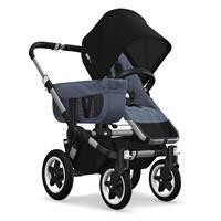 Kinderwagen ab 6 Monate bis 17kg | bugaboo donkey2 mono 2019 Kombikinderwagen Alu/Blau meliert/Schwa