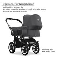 Liegewanne für Neugeborene bis 9kg | bugaboo donkey2 mono 2019 Kombikinderwagen Alu/Blau meliert/Sch