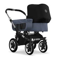 bugaboo donkey2 mono 2019 from birth stroller alu chassis/blue melange/black