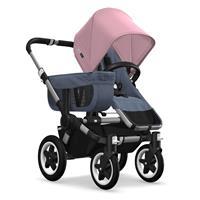 Kinderwagen ab 6 Monate bis 17kg | bugaboo donkey2 mono 2019 Kombikinderwagen Alu/Blau meliert/Soft