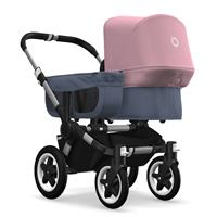 bugaboo donkey2 mono 2019 from birth stroller alu chassis/blue melange/soft pink