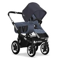 Kinderwagen ab 6 Monate bis 17kg | bugaboo donkey2 mono 2019 Kombikinderwagen Alu/Blau meliert/Steel