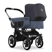 bugaboo donkey2 mono 2019 from birth stroller alu chassis/blue melange/steel blue