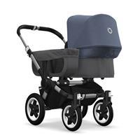 bugaboo donkey2 mono 2019 Kinderwagen für ein Kind Alu-Grau meliert-Blau meliert