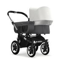 bugaboo donkey2 mono 2019 Kinderwagen für ein Kind Alu-Grau meliert-Fresh White