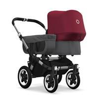 bugaboo donkey2 mono 2019 Kinderwagen für ein Kind Alu-Grau meliert-Rubinrot