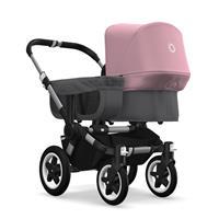 bugaboo donkey2 mono 2019 Kinderwagen für ein Kind Alu-Grau meliert-Soft Pink
