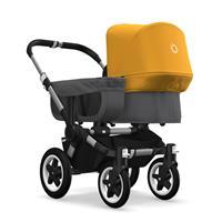bugaboo donkey2 mono 2019 Kinderwagen für ein Kind Alu-Grau meliert-Sonnengelb