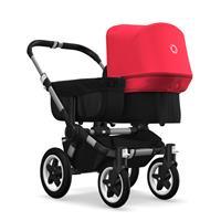 bugaboo donkey2 mono 2019 Kinderwagen für ein Kind Alu-Schwarz-Neonrot