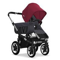 Kinderwagen ab 6 Monate bis 17kg | bugaboo donkey2 mono 2019 Kinderwagen für ein Kind Alu-Schwarz-Ru