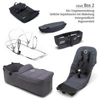 Box 2 Style Set schwarz | bugaboo donkey2 mono 2019 Kinderwagen für ein Kind Alu-Steel Blue-Blau mel