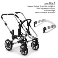 Box 1 Kinderwagengestell | bugaboo donkey2 mono 2019 Kinderwagen für ein Kind Alu-Steel Blue-Rubinro
