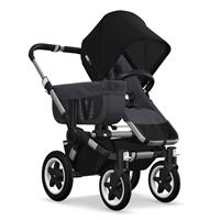 Kinderwagen ab 6 Monate bis 17kg | bugaboo donkey2 mono 2019 Kinderwagen für ein Kind Alu-Steel Blue
