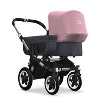 bugaboo donkey2 mono 2019 Kinderwagen für ein Kind Alu-Steel Blue-Soft Pink