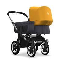 bugaboo donkey2 mono 2019 Kinderwagen für ein Kind Alu-Steel Blue-Sonnengelb