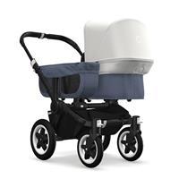 bugaboo donkey2 mono 2019 Kinderwagen für ein Kind Schwarz-Blau meliert-Fresh White