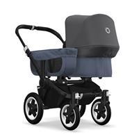 bugaboo donkey2 mono 2019 Kinderwagen für ein Kind Schwarz-Blau meliert-Grau meliert