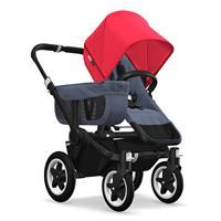Kinderwagen ab 6 Monate bis 17kg | bugaboo donkey2 mono 2019 Kinderwagen für ein Kind Schwarz-Blau m