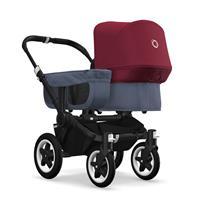 bugaboo donkey2 mono 2019 Kinderwagen für ein Kind Schwarz-Blau meliert-Rubinrot
