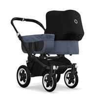 bugaboo donkey2 mono 2019 Kinderwagen für ein Kind Schwarz-Blau meliert-Schwarz