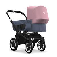 bugaboo donkey2 mono 2019 Kinderwagen für ein Kind Schwarz-Blau meliert-Soft Pink