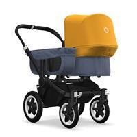 bugaboo donkey2 mono 2019 Kinderwagen für ein Kind Schwarz-Blau meliert-Sonnengelb