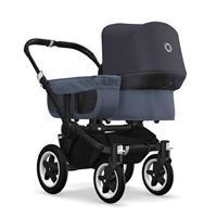 bugaboo donkey2 mono 2019 Kinderwagen für ein Kind Schwarz-Blau meliert-Steel Blue