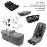 Box 2 Style Set schwarz | bugaboo donkey2 mono 2019 Kinderwagen für ein Kind Schwarz-Grau meliert-Bi