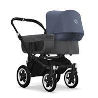 bugaboo donkey2 mono 2019 Kinderwagen für ein Kind Schwarz-Grau meliert-Blau meliert