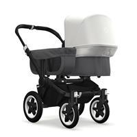 bugaboo donkey2 mono 2019 Kinderwagen für ein Kind Schwarz-Grau meliert-Fresh White