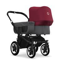 bugaboo donkey2 mono 2019 Kinderwagen für ein Kind Schwarz-Grau meliert-Rubinrot