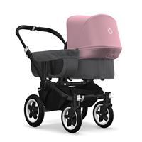 bugaboo donkey2 mono 2019 Kinderwagen für ein Kind Schwarz-Grau meliert-Soft Pink