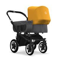 bugaboo donkey2 mono 2019 Kinderwagen für ein Kind Schwarz-Grau meliert-Sonnengelb