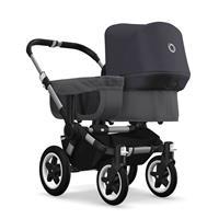 bugaboo donkey2 mono 2019 Kinderwagen für ein Kind Schwarz-Grau meliert-Steel Blue