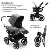 Kleinkindsitz bis 17kg | bugaboo donkey2 mono 2019 Kinderwagen für ein Kind Schwarz-Schwarz-Grau mel