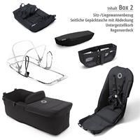 Box 2 Style Set schwarz | bugaboo donkey2 mono 2019 Kinderwagen für ein Kind Schwarz-Schwarz-Neonrot