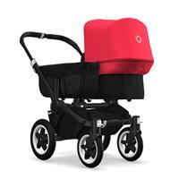 bugaboo donkey2 mono 2019 Kinderwagen für ein Kind Schwarz-Schwarz-Neonrot
