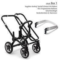 Box 1 Kinderwagengestell | bugaboo donkey2 mono 2019 Kinderwagen für ein Kind Schwarz-Steel Blue-Neo