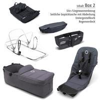 Box 2 Style Set schwarz | bugaboo donkey2 mono 2019 Kinderwagen für ein Kind Schwarz-Steel Blue-Neon