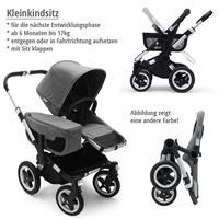 Kleinkindsitz bis 17kg | bugaboo donkey2 mono 2019 Kinderwagen für ein Kind Schwarz-Steel Blue-Schwa