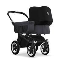 bugaboo donkey2 mono 2019 Kinderwagen für ein Kind Schwarz-Steel Blue-Schwarz