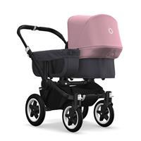 bugaboo donkey2 mono 2019 Kinderwagen für ein Kind Schwarz-Steel Blue-Soft Pink