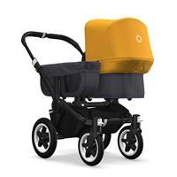 bugaboo donkey2 mono 2019 Kinderwagen für ein Kind Schwarz-Steel Blue-Sonnengelb