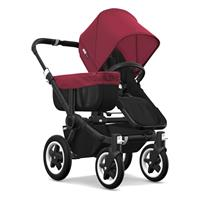 bugaboo Donkey2 Mono Combi Stroller Black Black/Ruby Red