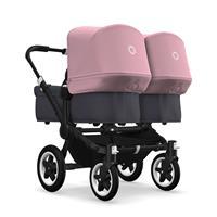 bugaboo donkey2 twin 2019 Zwillingswagen Schwarz-Steel Blue-Soft Pink