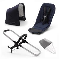 bugaboo Duo-Extension-Pack for Donkey 3 Classic Design Alu / Dark Navy